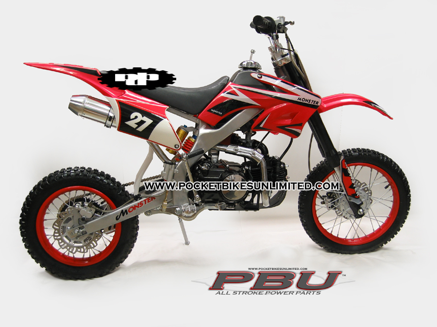 2 Link Rear Suspension Dirt http://www.pocketbikesunlimited.com/125CC-ROCK-CLIMBER-DIRT-BIKE.html